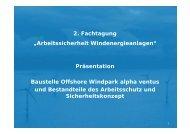 """2. Fachtagung """"Arbeitssicherheit Windenergieanlagen"""" Präsentation ..."""