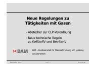 Neue Regelungen zu Tätigkeiten mit Gasen - Entzündbare Gase ...