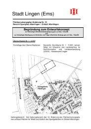 Begründung Entwurf FNP - Stadt Lingen