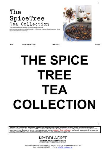 The Spice Tree Tea Collection
