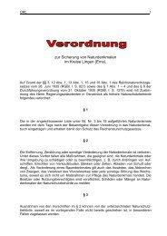 Verordnung zur Sicherung Naturdenkmale - Stadt Lingen