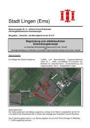 Begründung städtebauliches Entwicklungskonzept - Stadt Lingen
