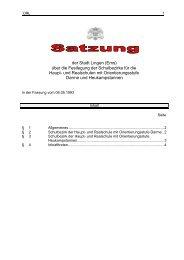 Satzung über die Festlegung der Schulbezirke für die ... - Stadt Lingen