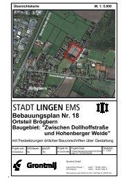 Bebauungsplan in A4-Teilplänen - Stadt Lingen