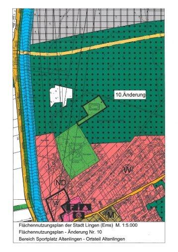 Entwurf Flächennutzungsplan - Stadt Lingen