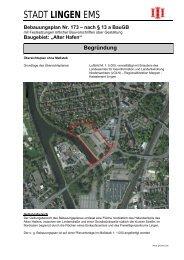 Entwurf Begründung - Stadt Lingen