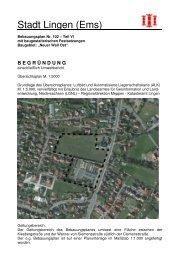 Begründung BPlan 102 - Teil VI - Stadt Lingen