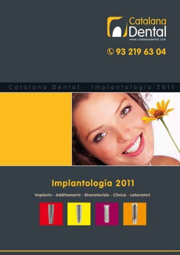 Catàleg general d'implants 2011 - catalana dental