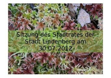 Bericht Landschaftspflegeverband 2012 - Lindenberg