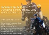 Jumping & Pony Trophy 2012 - Graf von Lindenau - Halle