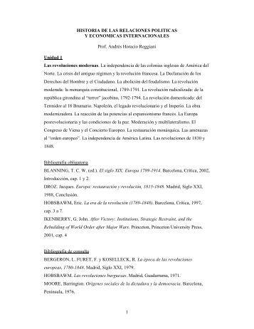 Historia de las Relaciones Políticas y Económicas ... - ISEN