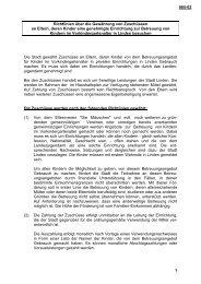 005-02 1 Richtlinien über die Gewährung von Zuschüssen ... - Linden