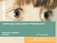 CHARITABLE DONATIONS BY PREMIUM-RATE