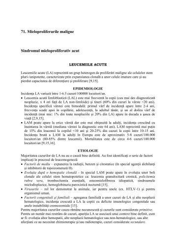 71. Mieloproliferarile maligneNew Document Microsoft ... - Gr.T. Popa