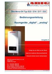 Öko-Nova-Oil - ABIC Brennertechnik GmbH