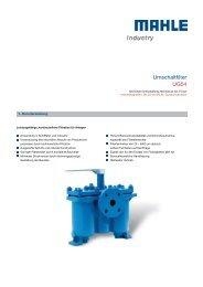 Umschaltfilter UG54 - MAHLE Industry - Filtration
