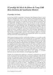 El prodigi del dia 6 de febrer de l'any 1540 Breu història del ...
