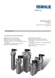Mitteldruckfilter Pi 3000 - MAHLE Industry - Filtration