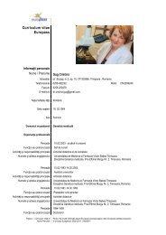 Vezi curriculum vitae - Universitatea de Medicina si Farmacie
