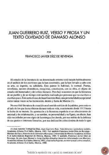 juan guerrero ruiz, verso y prosa - Región de Murcia Digital