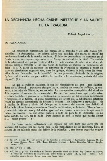 LA DISONANCIA HECHA CARNE: NIETZSCHE y LA MUERTE DE ...