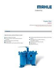 Duplex filter UG54 - MAHLE Industry - Filtration