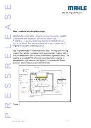 Steel – material also for piston rings BEIJING ... - Mahle.com