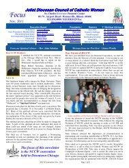 Joliet Diocesan Council of Catholic Women - Diocese of Joliet
