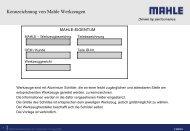 Kennzeichnung von Mahle Werkzeugen - Mahle.com