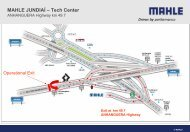 Mapa da MAHLE JUNDIAÍ – Tech Center - Mahle Powertrain Ltd