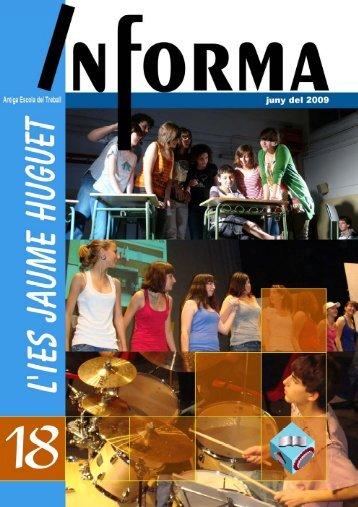 Revista Informa n. 18, juny 2009 - Institut Jaume Huguet