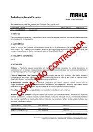 SSO 40.06.07-03 Trabalho em Locais Elevados - Mahle.com