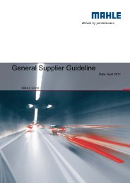 General Supplier Guideline - Mahle.com
