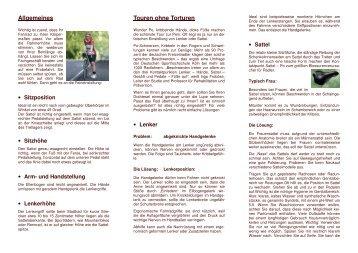 Die richtige Haltung auf dem Fahrrad - ADFC Fürstenfeldbruck