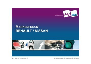 RENAULT / NISSAN - ASC Automotive Solution Center AG