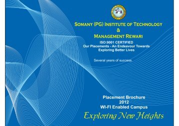 Placement Directory - Somany (PG)
