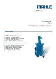 Rückspülfilter R5-8 - MAHLE Industry - Filtration