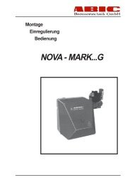 Bedienungsanleitung Nova Mark Gasbrenner - ABIC Brennertechnik ...