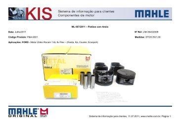 ML 019/2010 – Pistão com Anel - Mahle.com