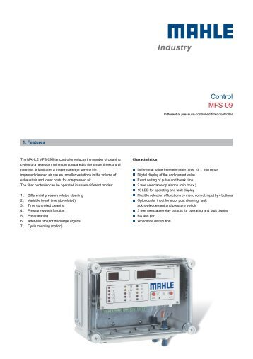Control MFS-09 - MAHLE Industry - Filtration