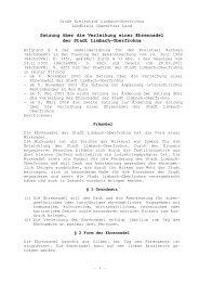 Satzung über die Verleihung einer Ehrennadel der Stadt Limbach ...
