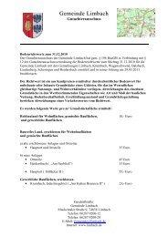 Bodenrichtwerte am Stichtag 31.12.2010 - Gemeinde Limbach