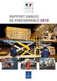 RAPPORT ANNUEL DE PERFORMANCE 2010 - Douane