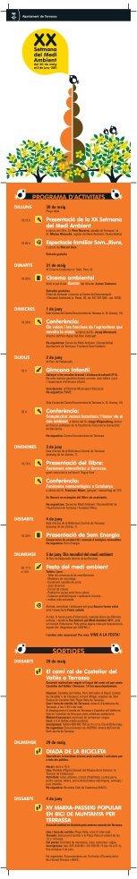 Programa - Medi Ambient i Sostenibilitat - Ajuntament de Terrassa
