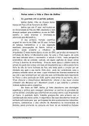 Notas sobre a Vida e Obra de Galileu - Universidade de Évora