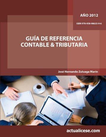cuadernillo de referencia tributaria 2008 - Error: Debe Especificar el ...