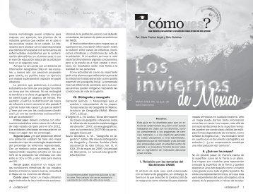 No. 172, p. 30, Los inviernos de México - Cómo ves? - UNAM