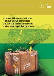 Avaluació tècnica i econòmica de nous cultius, demandats pel canvi ...