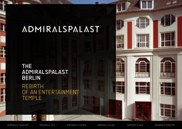 THE ADMIRALSPALAST BERLIN REBIRTH OF AN ENTERTAINMENT