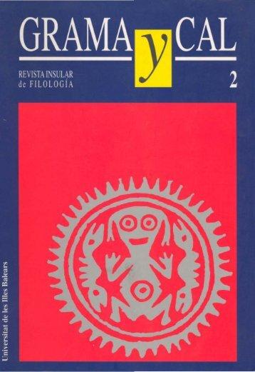 GRAMAgCAL - Biblioteca Digital de les Illes Balears - Universitat de ...